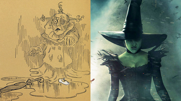 The original image of the Wicked Witch (of the West) vs supermodel wicked witch. C'mon son!